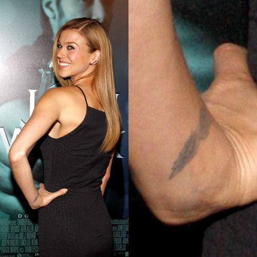 Adrianne Palicki Wings Wrist Tattoo Steal Her Style Ideas And Designs