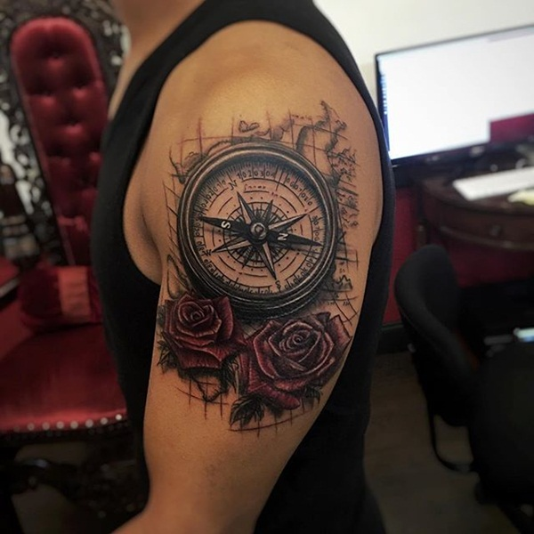 50 Compass Tattoo Designs That Evoke Your Adventurous Ideas And Designs