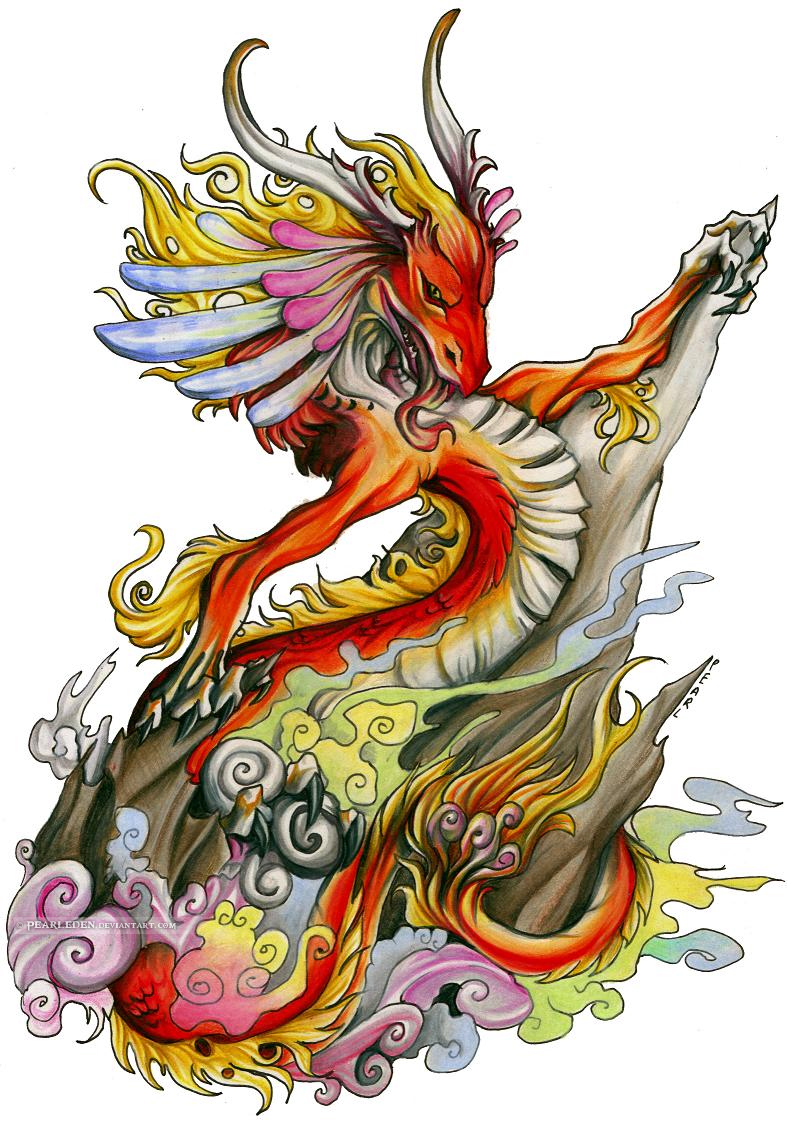Colored Dragon Tattoo Design Tattoo Design Ideas Ideas And Designs