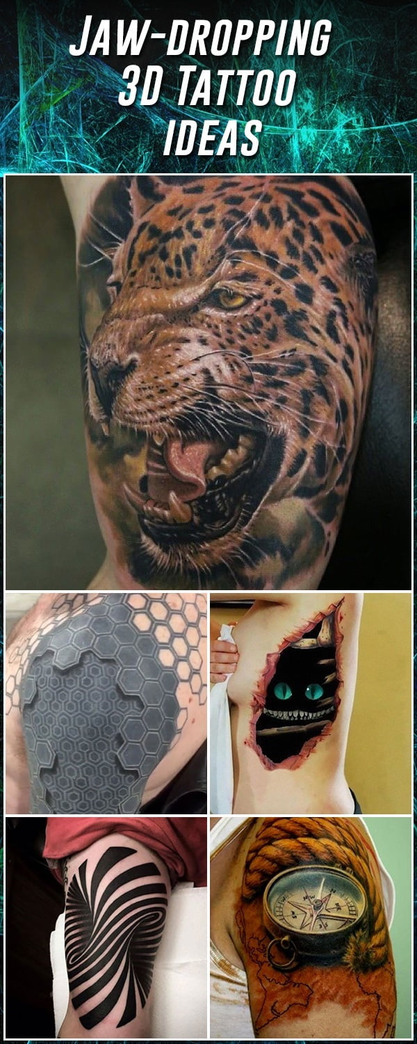 60 Best 3D Tattoos – Meanings Ideas And Designs For 2018 Ideas And Designs