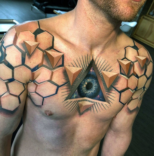 40 Beautiful 3D Tattoos Barnorama Ideas And Designs