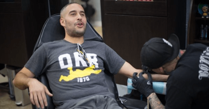 Gif Jon Anik Getting His 209 Tattoo Bjpenn Com Ideas And Designs