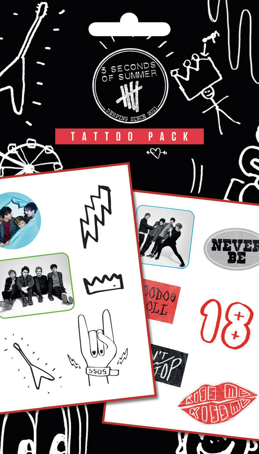 5 Seconds Of Summermix Tattoo Pack Ideas And Designs