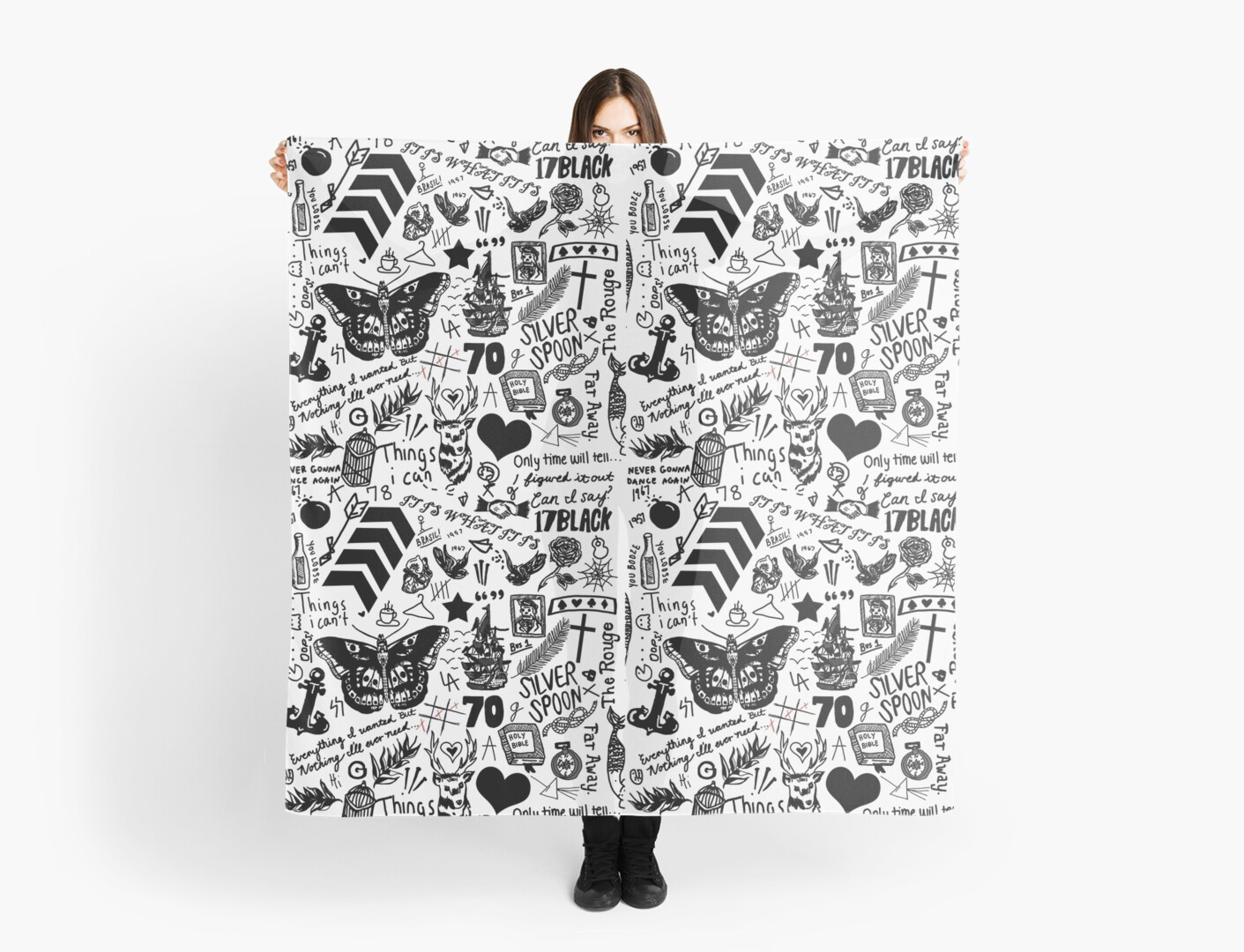 1D Tattoos 2015 Scarves By Eliannadraws Redbubble Ideas And Designs