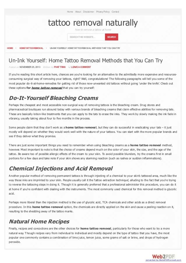 Un Ink Yourself Home Tattoo Removal Methods That You Can Try Ideas And Designs