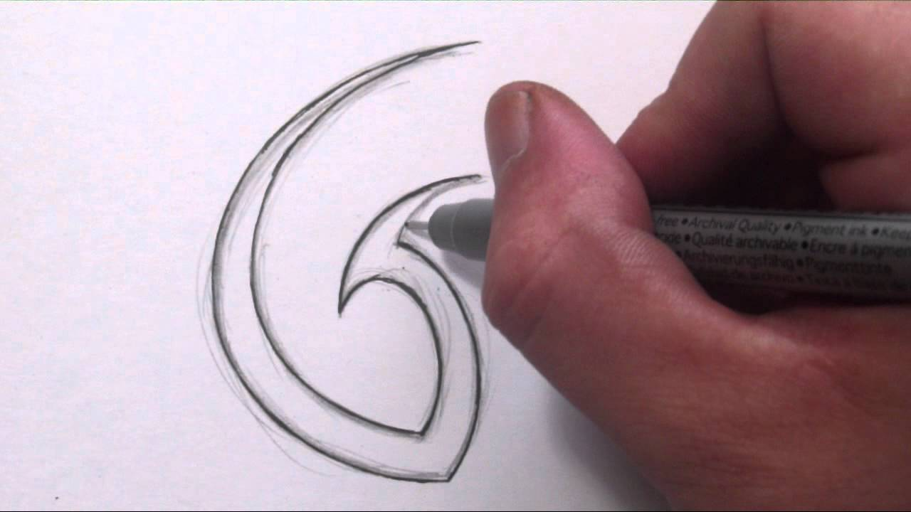 How To Draw A Simple Tribal Letter G Youtube Ideas And Designs