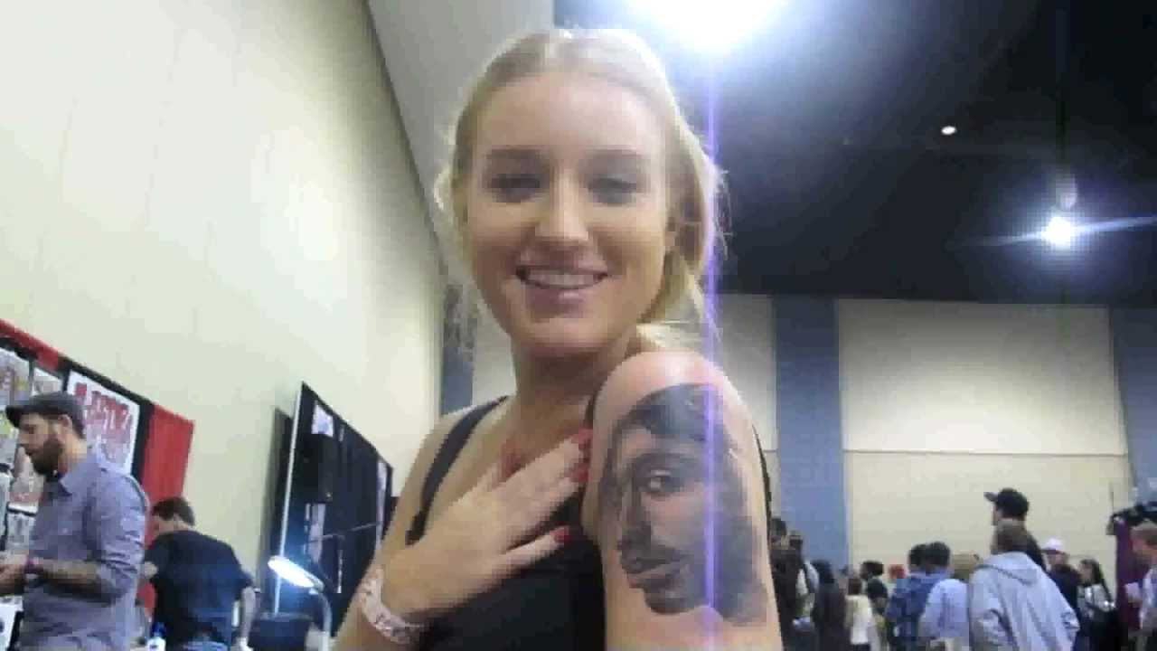 Getting Tupac Shakur Tattoo D On Her Arm Sydney S Hip Ideas And Designs
