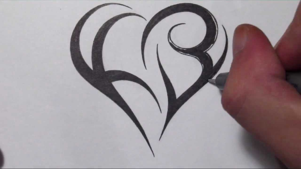 How To Create A Heart Using Letters Tribal Initials Ideas And Designs
