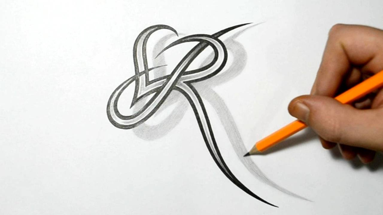 Letter R And Heart Combined Tattoo Design Ideas For Ideas And Designs