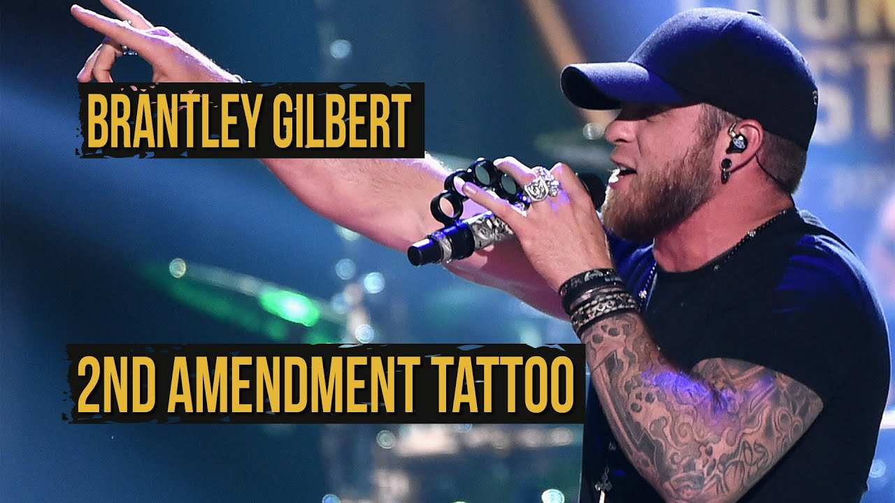 Brantley Gilbert S New Tattoo Recognizes 2Nd Amendment Ideas And Designs