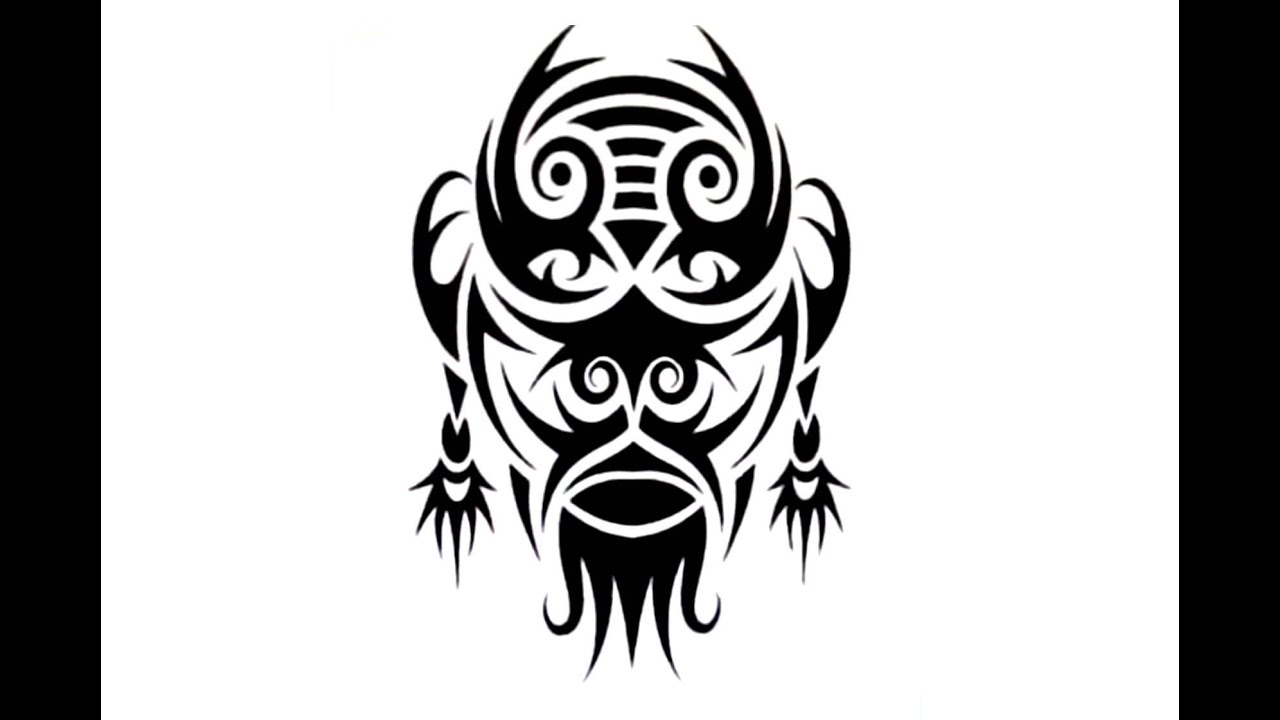 How To Create A Tribal Mask Tattoo Design Youtube Ideas And Designs