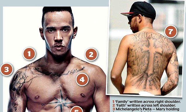 Lewis Hamilton Opens Up About His Tattoos As He Poses For Ideas And Designs