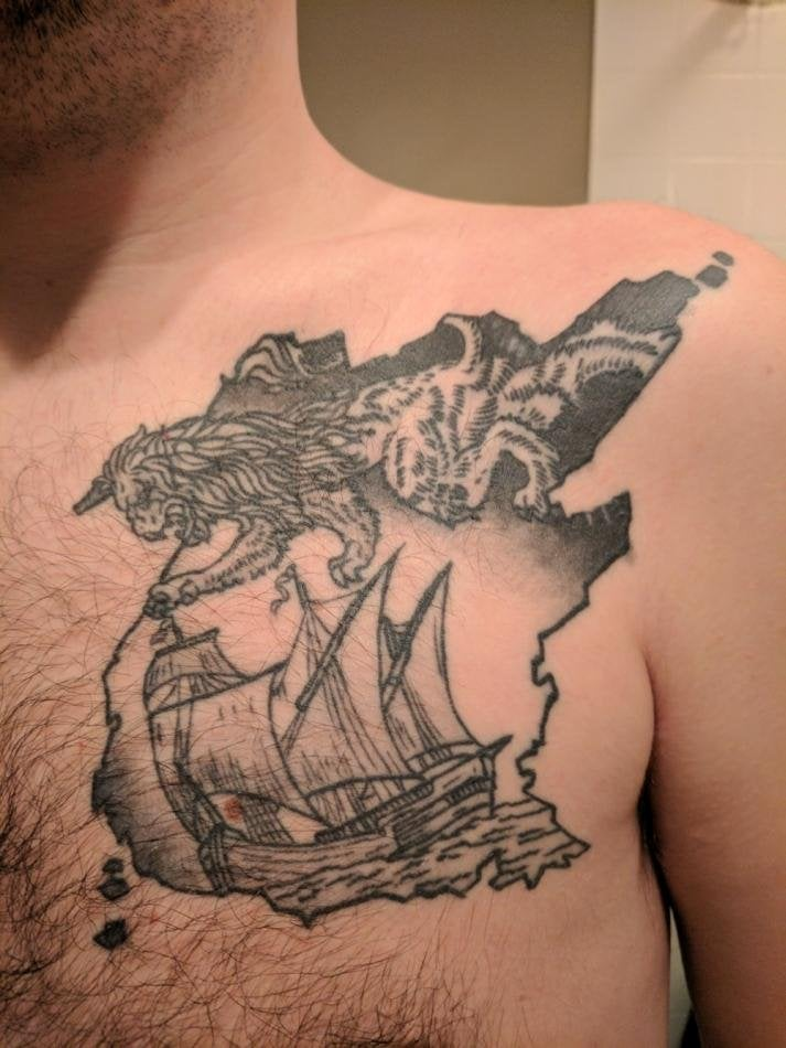 New Brunswick Inspired Tattoo For Canada S 150 Canada Ideas And Designs