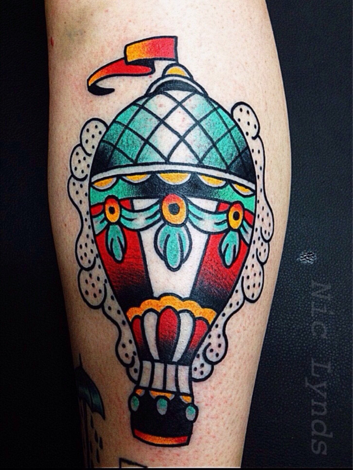 Hot Air Balloon Nic Lynds Affinity Tattoo Austin Ideas And Designs