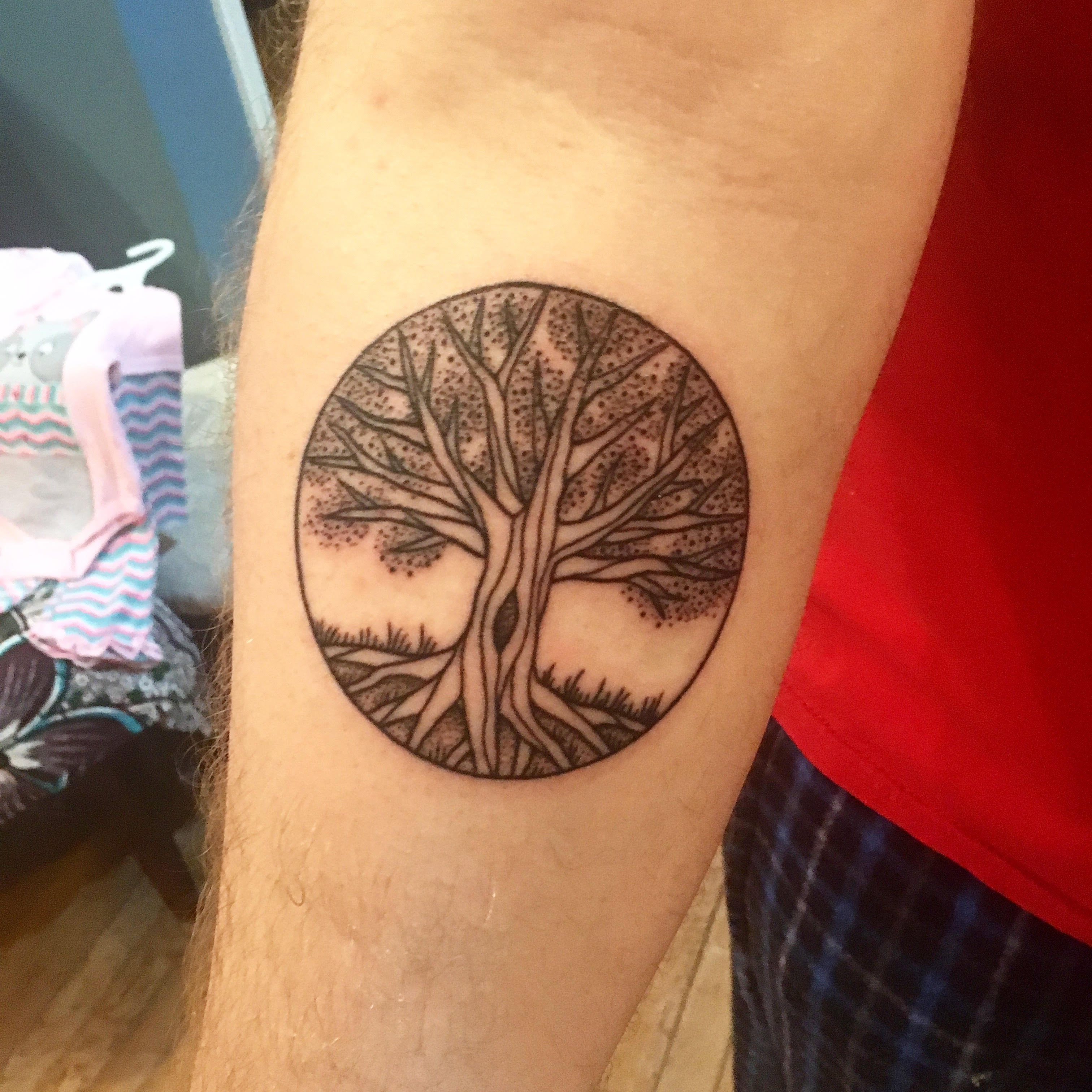 Line And Dot Work Tree Of Life By Kelly Killagain At 777 Ideas And Designs