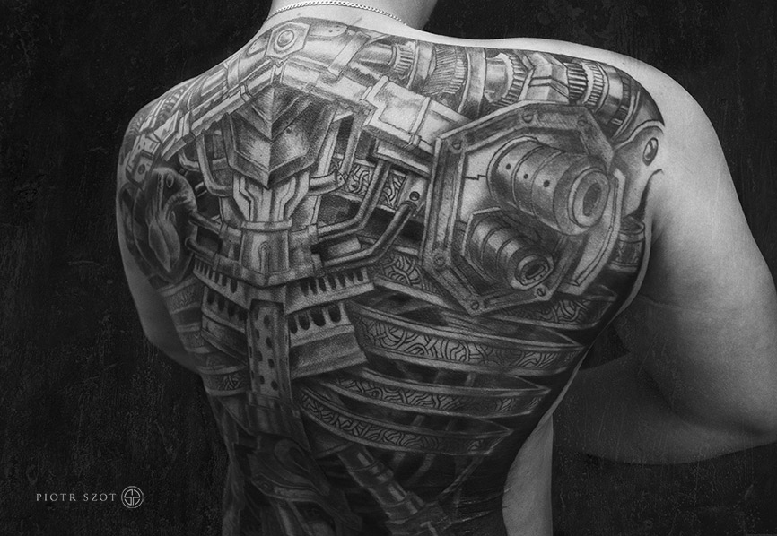 Biomechanical Full Back Best Tattoo Design Ideas Ideas And Designs