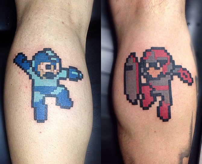 Megaman Protoman 8Bit Tattoos Best Tattoo Design Ideas Ideas And Designs