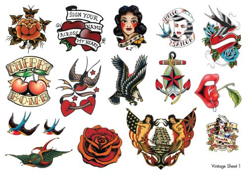 Vintage Temporary Tattoos Temporary Tattoos In Australia Ideas And Designs