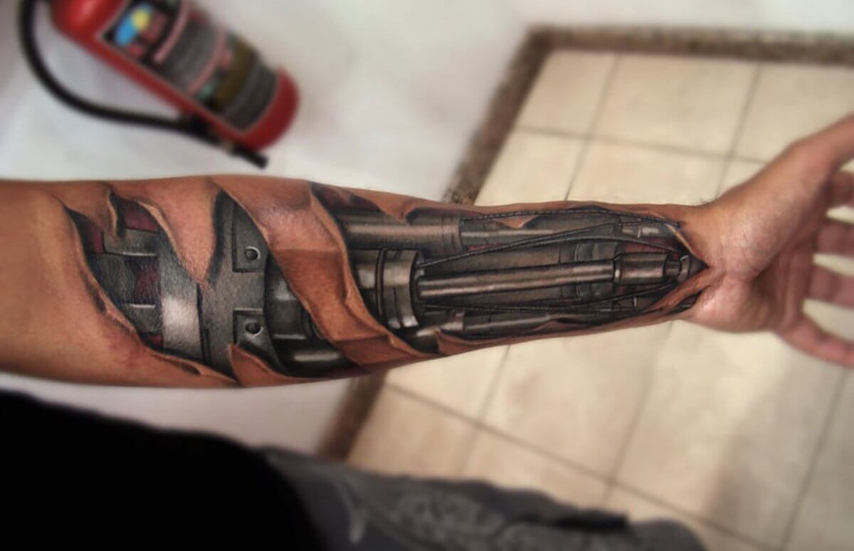 Top 80 Best Biomechanical Tattoos For Men Improb Ideas And Designs
