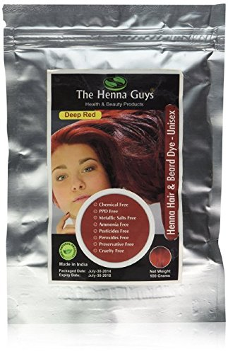 The Henna Guys Hair And Beard Dye Deep Red 1 Pack Buy Ideas And Designs