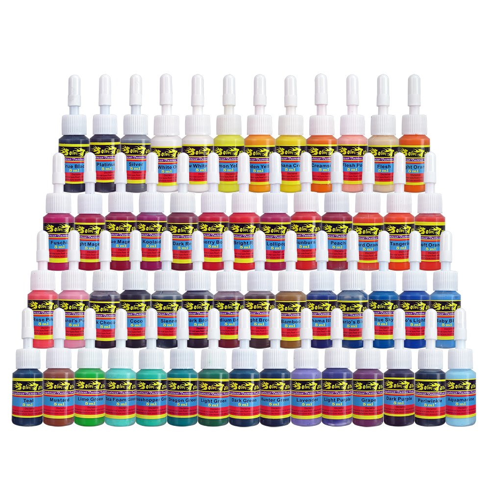 Skin Candy Tattoo Ink Set 54 Pack Primary Color The Ideas And Designs