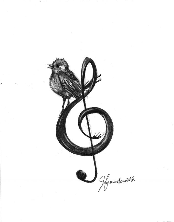 Songbird Drawing By J Ferwerda Ideas And Designs