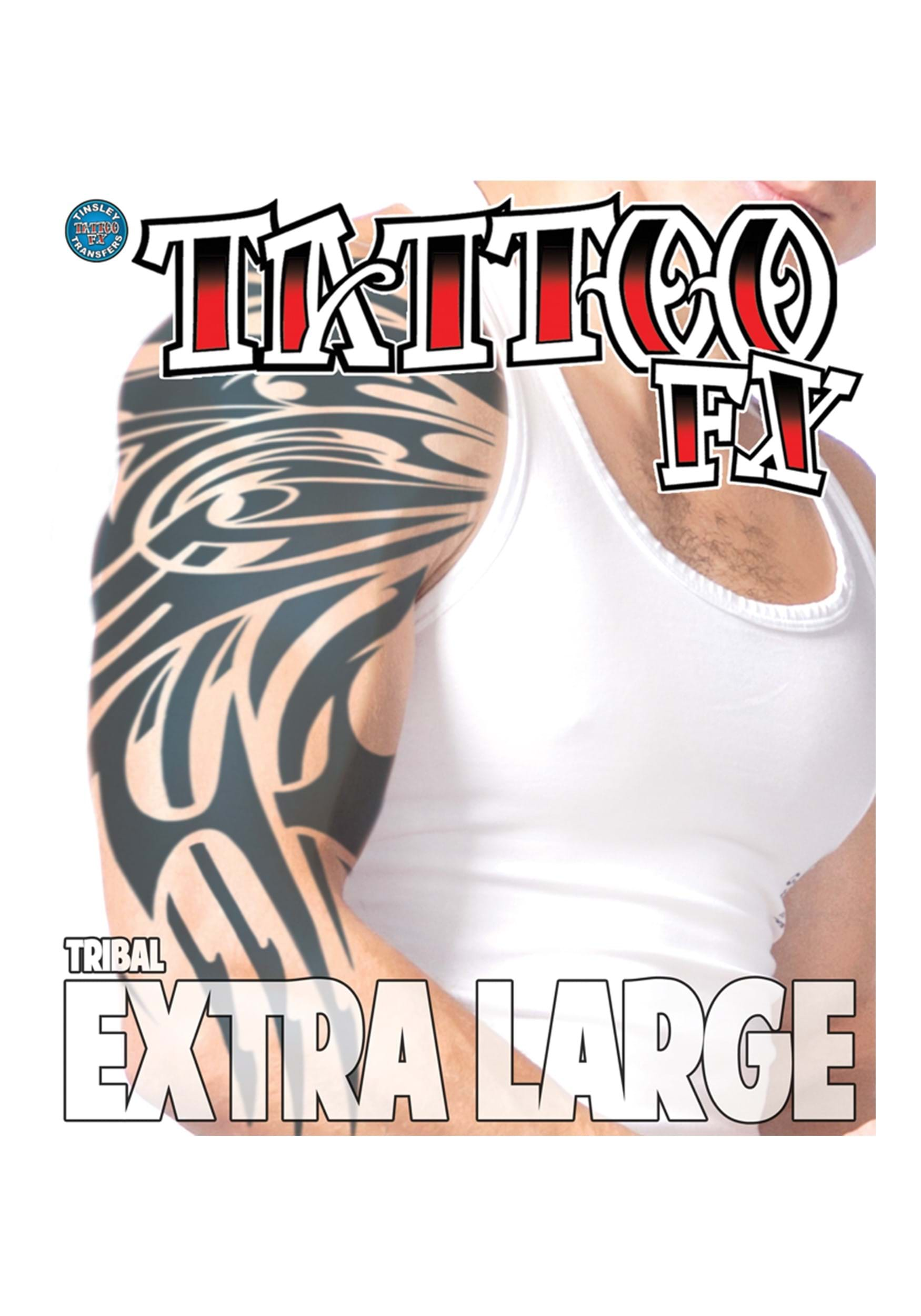 Extra Large Tribal Temporary Tattoo Ideas And Designs