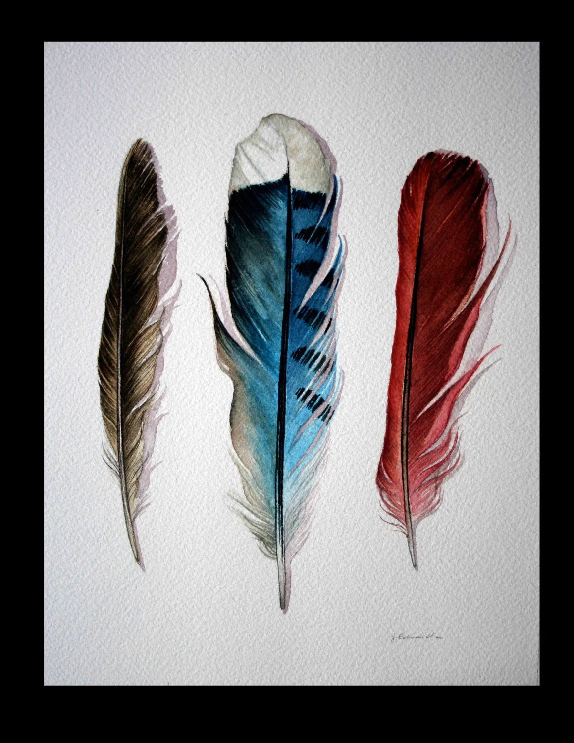 Three Feathers Robin Blue Jay Cardinal Original Ideas And Designs