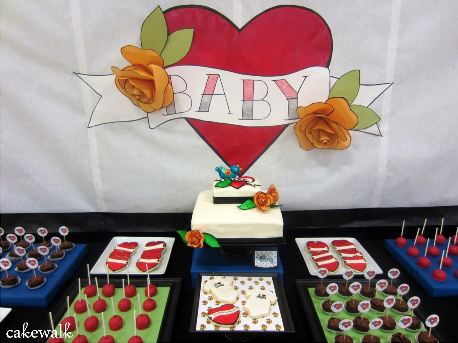 Tattoo Inspired Baby Shower By Cakewalk Ideas And Designs