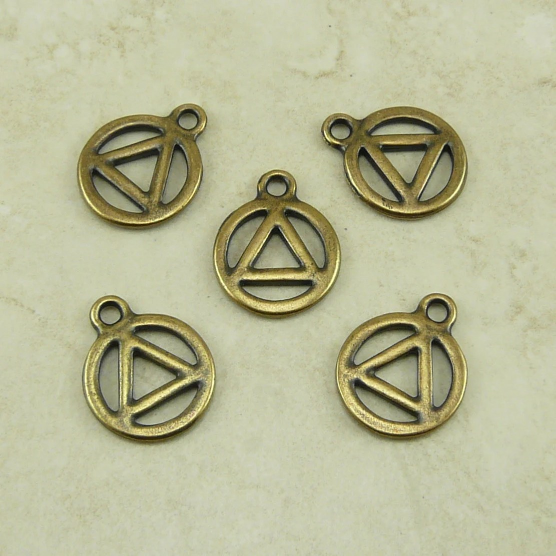 5 Tierracast 12 Step Aa Recovery Serenity Symbol Charms Ideas And Designs