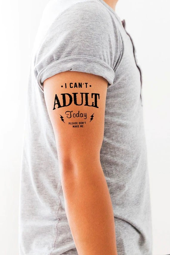 Temporary Tattoo I Can T *D*Lt Today Funny By Fuzzyandbirchco Ideas And Designs