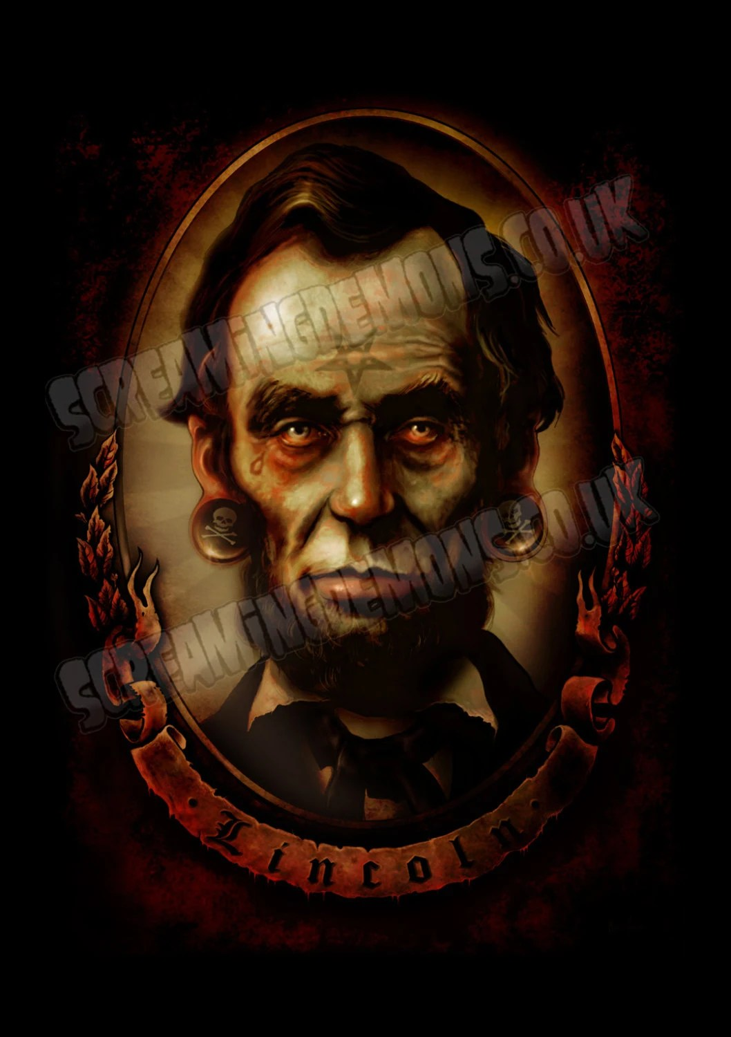 Items Similar To Abraham Lincoln Tattoo Art Zombie Ideas And Designs