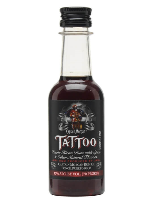 Captain Morgan Tattoo Spiced R*M Miniature The Whisky Ideas And Designs