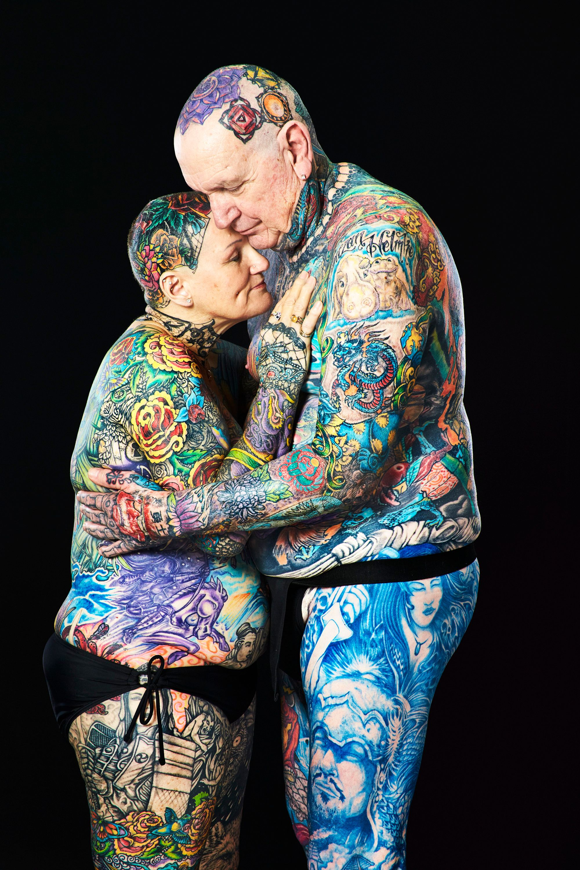 Senior Couple Breaks World Record For Most Tattoos On The Ideas And Designs