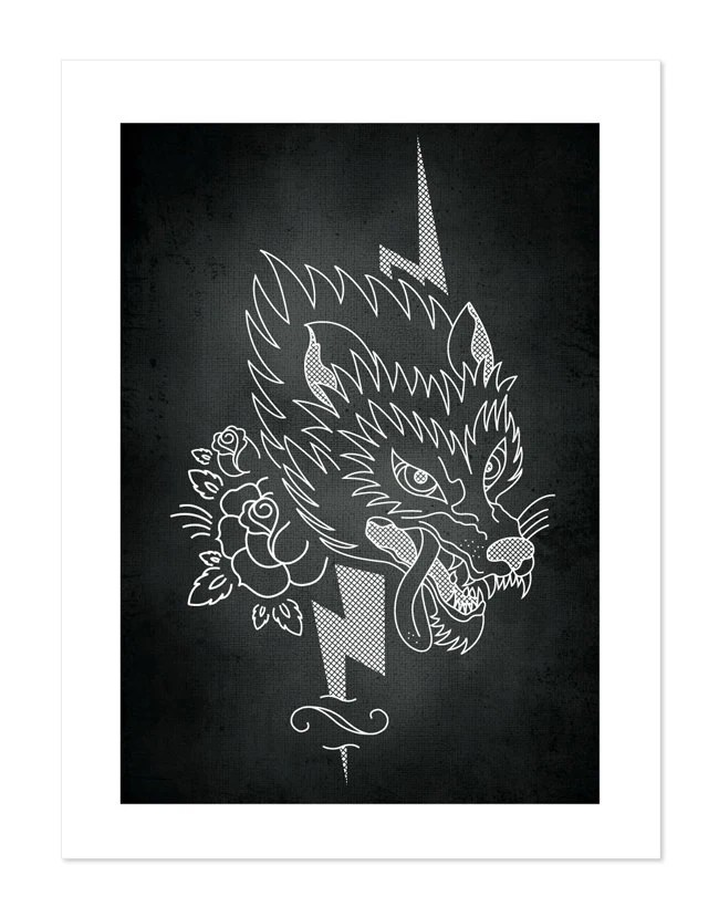 Wolf Tattoobular Line Design Series Neo Traditional Tattoo Ideas And Designs
