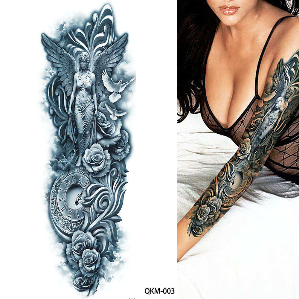 Very Big Ancient Greek Mythology Temporary Tattoo Full Arm Ideas And Designs