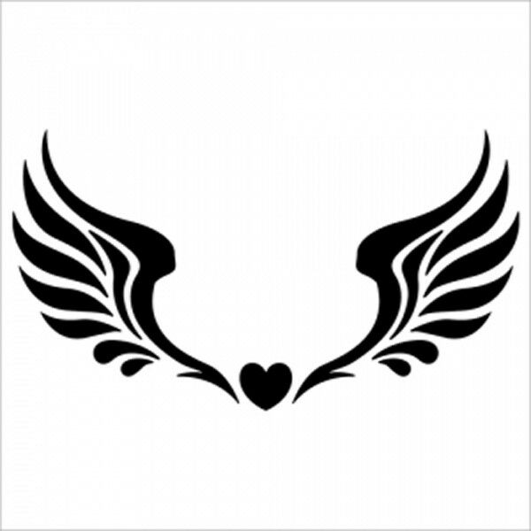Reusable Airbrush Tattoo Stencils Templates Angel Wings Ideas And Designs