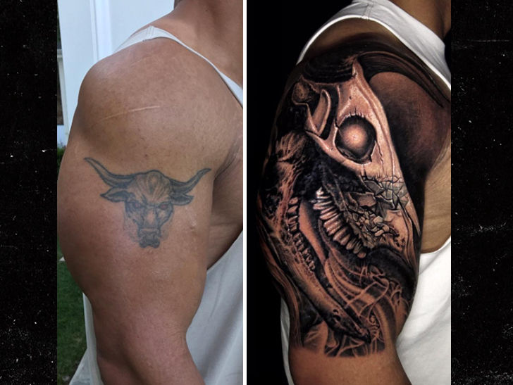 The Rock Covers Up Iconic Bull Tattoo With Bigger Bull Ideas And Designs