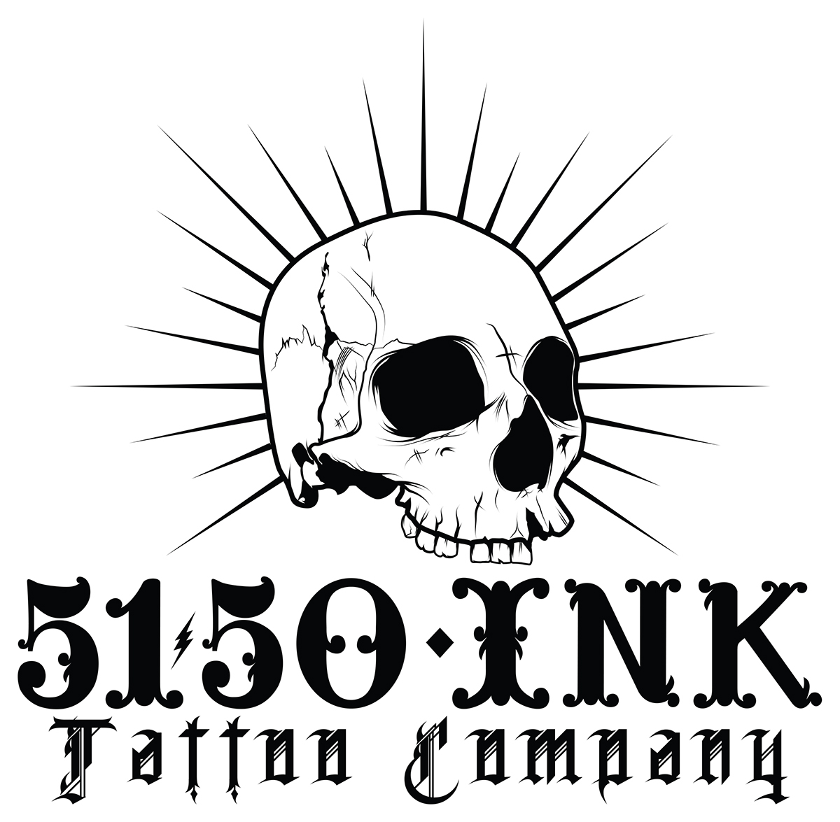 5150 Ink Tattoo Company Logo And Web Banners On Behance Ideas And Designs