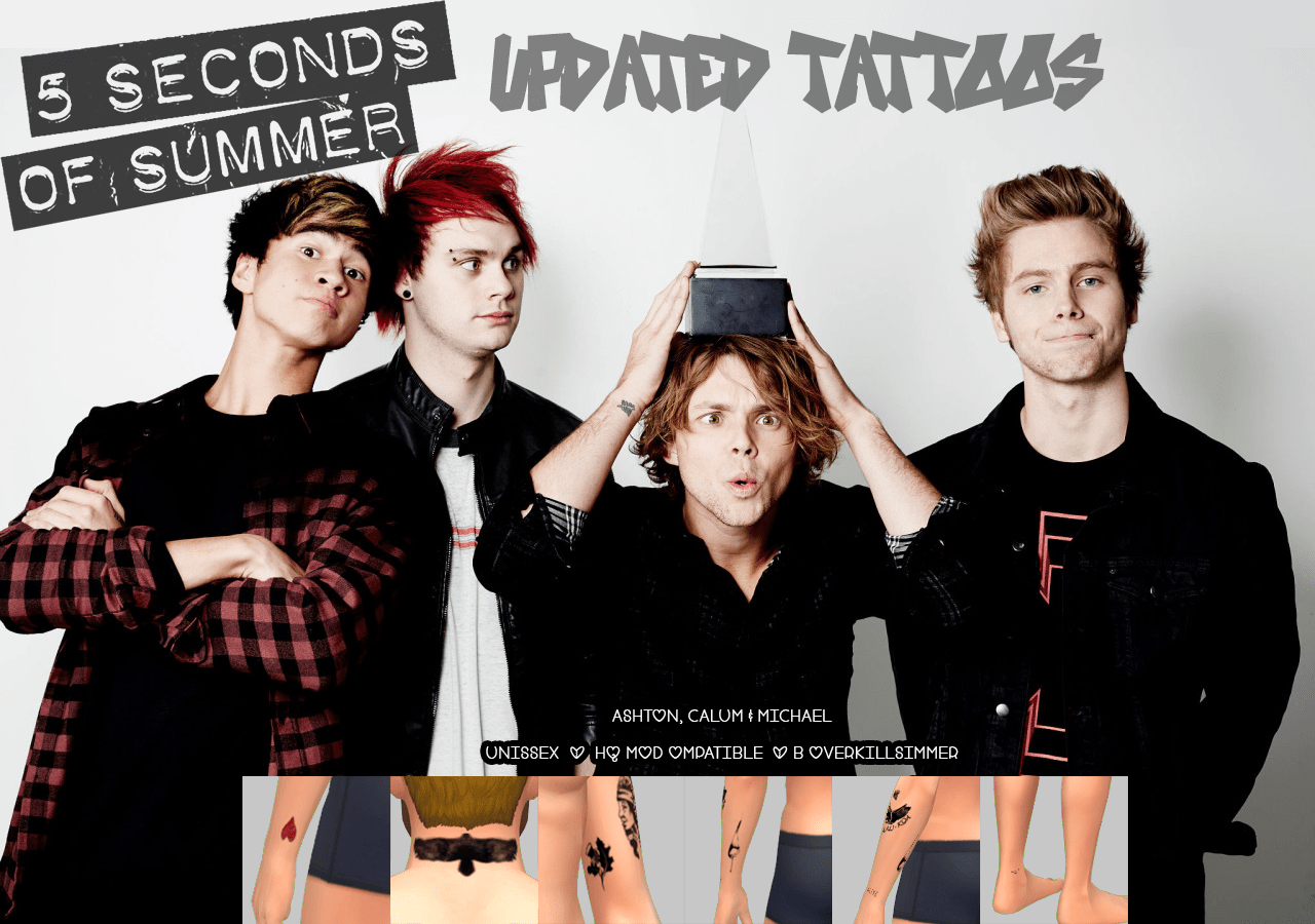 5 Seconds Of Summer Tattoos Overkill S Ideas And Designs
