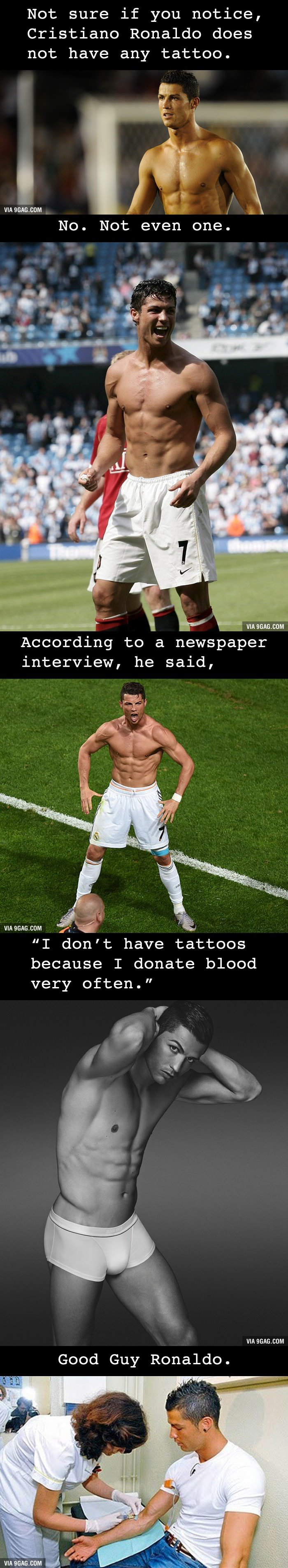 Mystery Solved Why You Won T Find A Tattoo On Cristiano Ideas And Designs