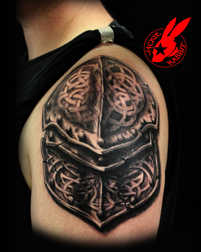 Realistic 3D Armor Tattoo By Jackie Rabbit Custom Tattoo Ideas And Designs