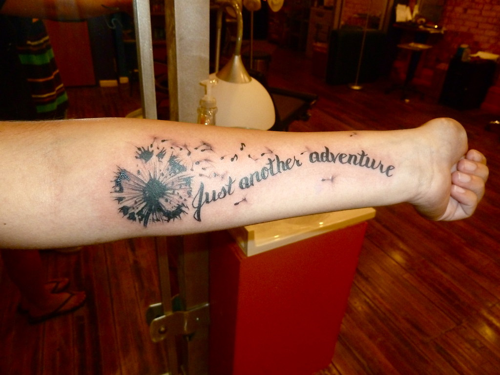 Just Another Adventure Dandelion Tattoo Mike Riina Ideas And Designs