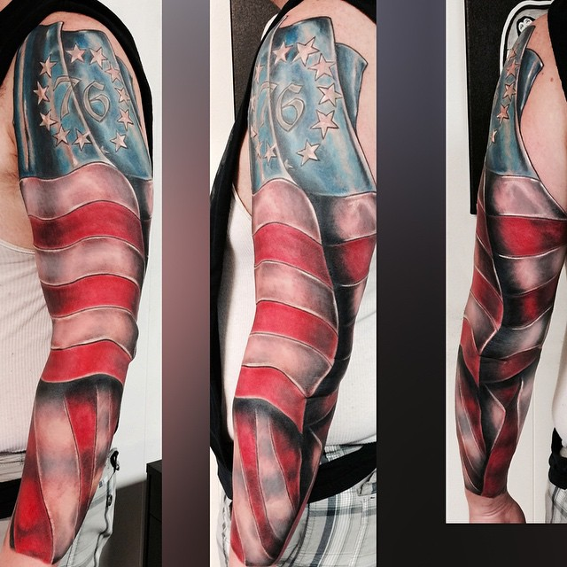 1776 American Flag This One Took A Few Sessions But Final Ideas And Designs