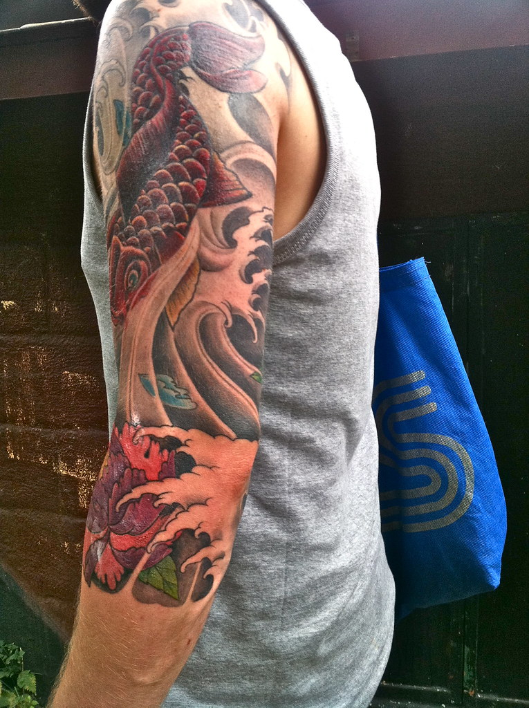 3 4 Sleeve Back Aug 11 Made By Roger Teds Tattoo Flickr Ideas And Designs