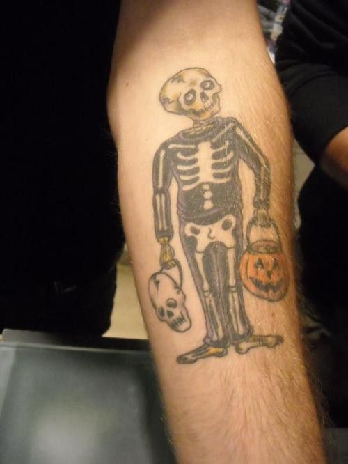 Alex Gaskarth S Skeleton In A Skeleton Costume Tattoo Ideas And Designs