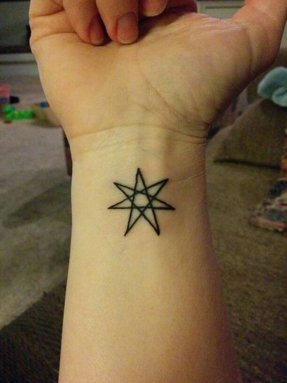 Seven Point Star Also Called A Heptagram Fairy Star And Ideas And Designs