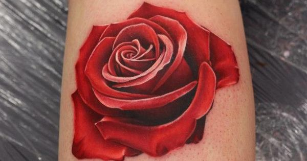 3D Tattoo Red Rose Artist Michelle Maddison Amazing Ideas And Designs