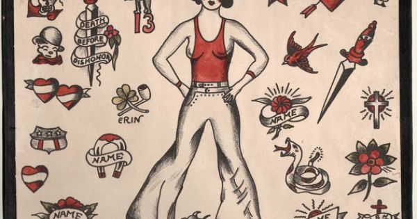 1930 S Vintage Percy Waters Tattoo Flash Series A 2 By Ideas And Designs