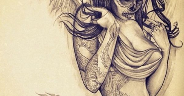 Angel Sugar Skull Nice Tattoo Wh Tattoo Ideas Ideas And Designs